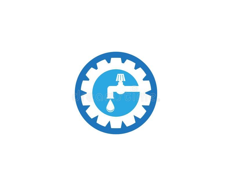 Plumbing service logo design template.  stock illustration