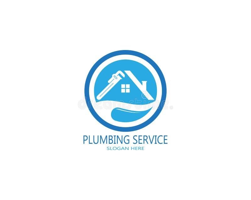 Plumbing service logo vector.  royalty free illustration