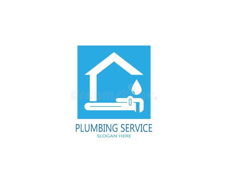 Plumbing service logo vector.  vector illustration