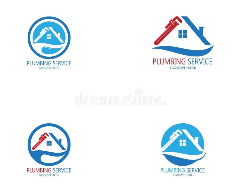 Plumbing service logo vector template.  royalty free illustration
