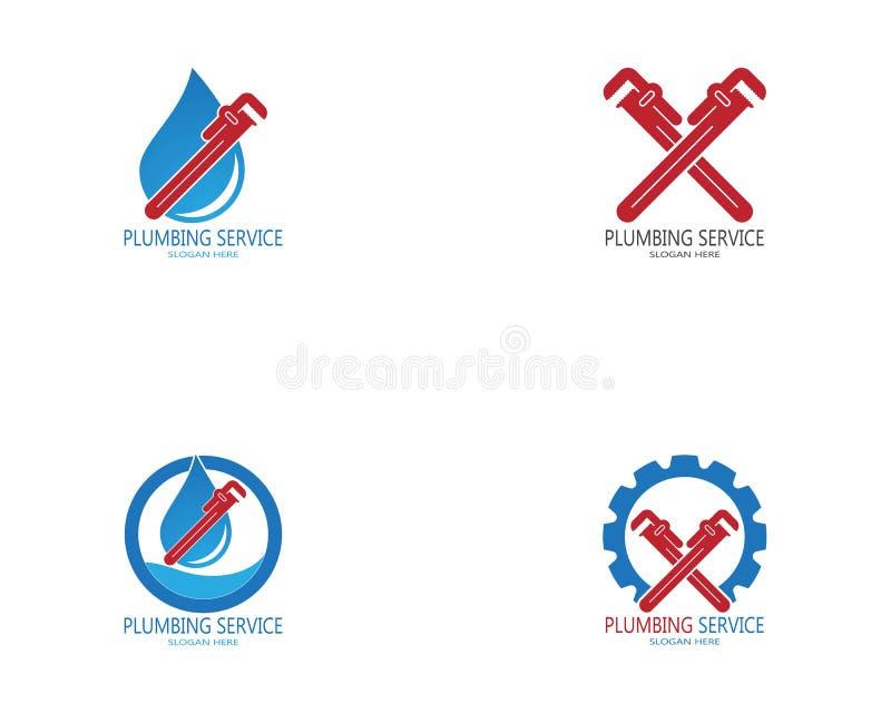 Plumbing service logo vector template.  stock illustration