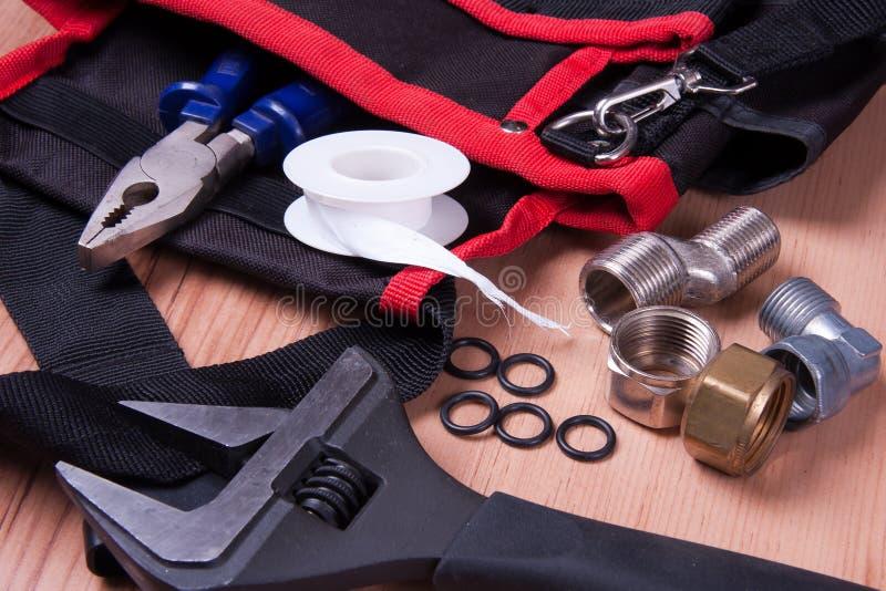 Plumbing tools royalty free stock photography