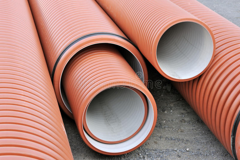 Plumbing tubes stock images