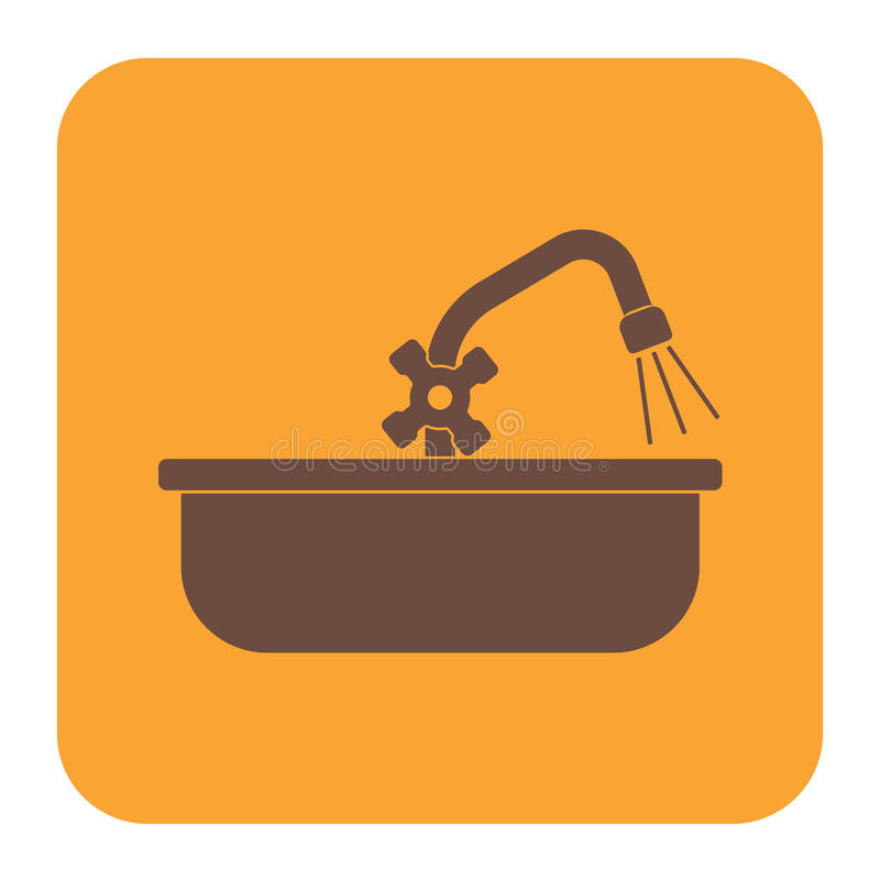 Plumbing work symbol icon. Vector illustration stock illustration