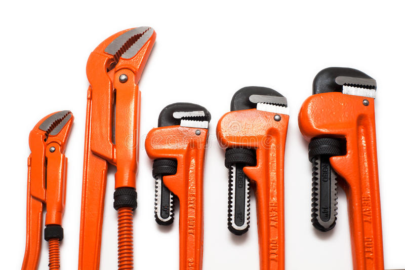 Plumbing Wrenches Set Stock Photography
