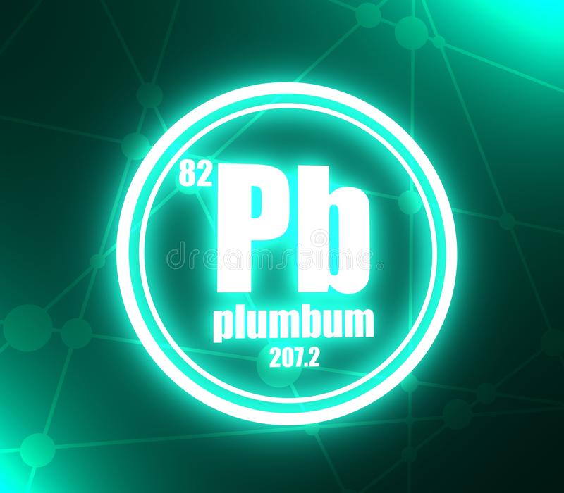 Plumbum chemisch element royalty-vrije illustratie
