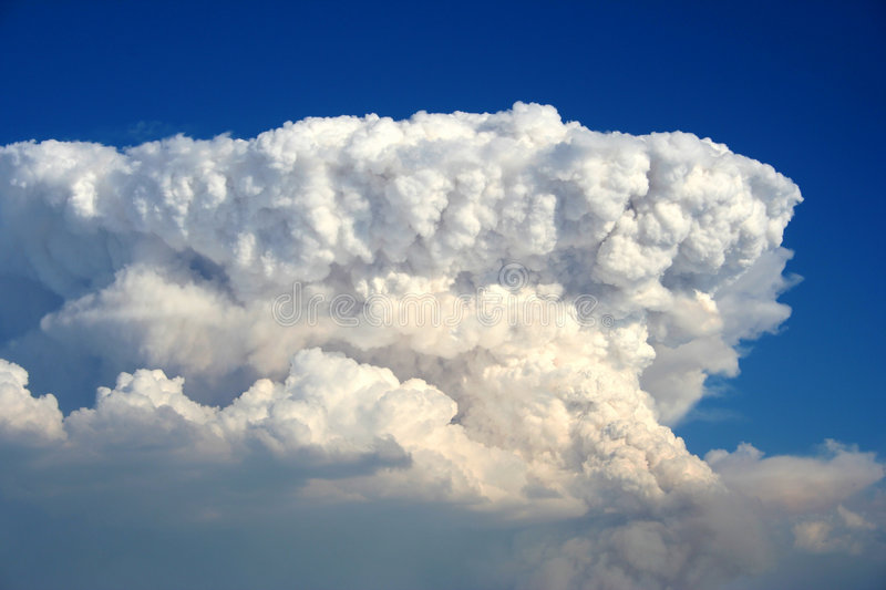 Plume. Huge smoke plume over west central Idaho from forest fire stock photography