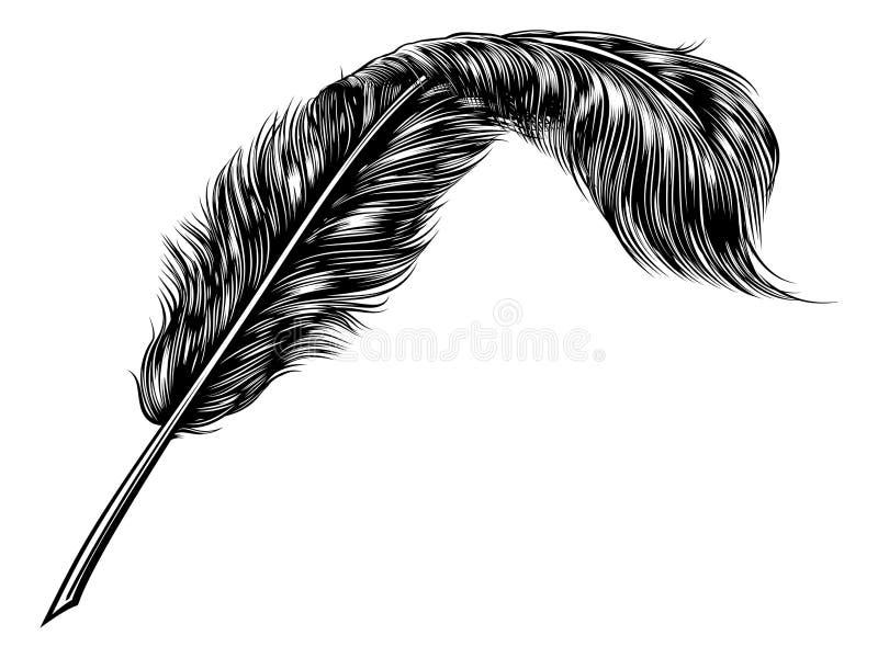 Plume Quill Pen illustration libre de droits