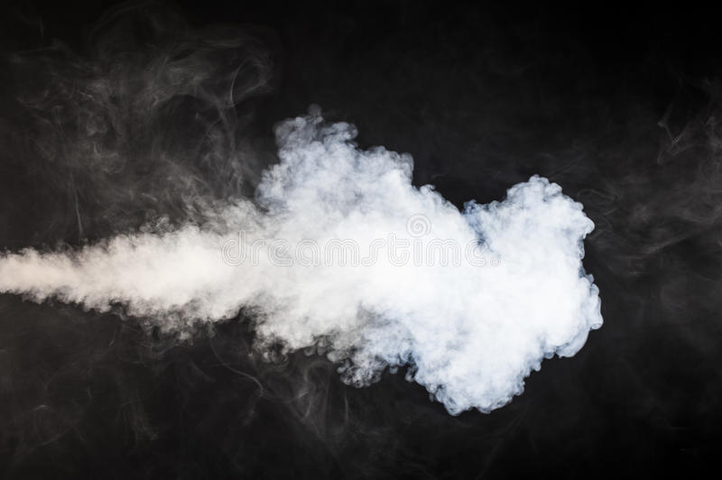 Plume of smoke stock photography