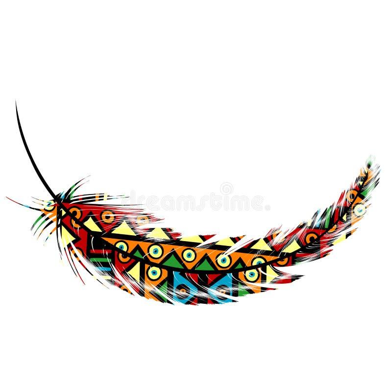 Plume tribale ethnique de motifs illustration de vecteur
