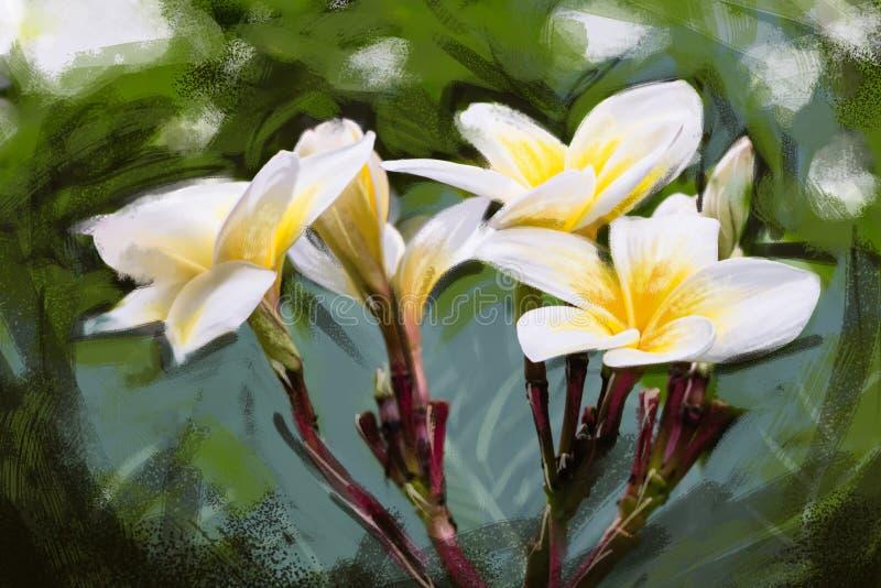 plumeria del fiore della pittura illustrazione vettoriale