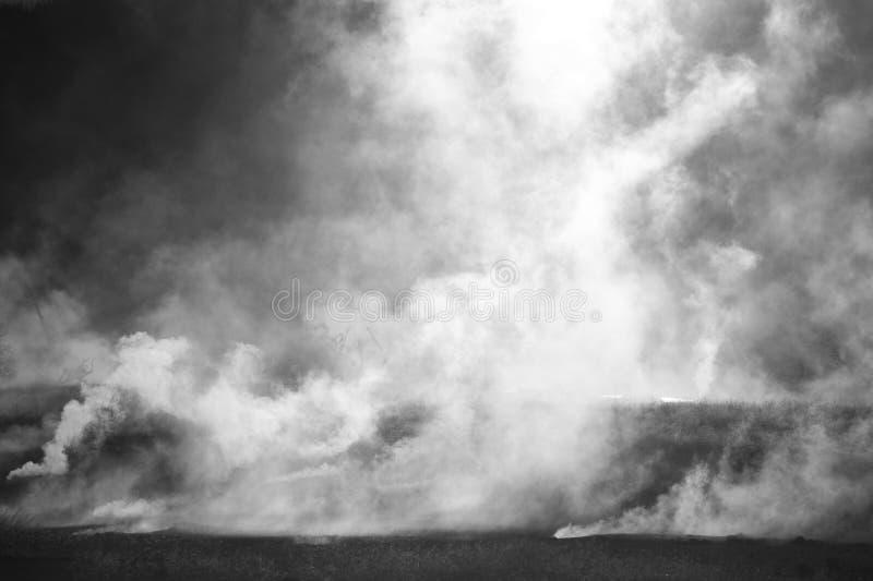 Plumes de vapeur se levant au-dessus de chaud photos libres de droits