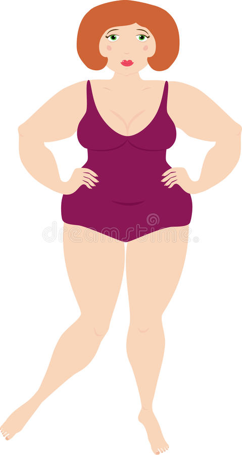 Plump Woman Royalty Free Stock Photography