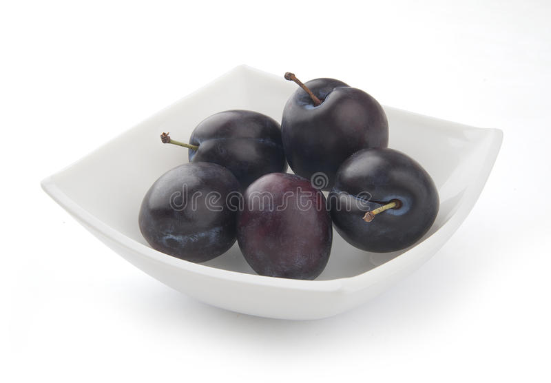 Plums In The Bowl Royalty Free Stock Image