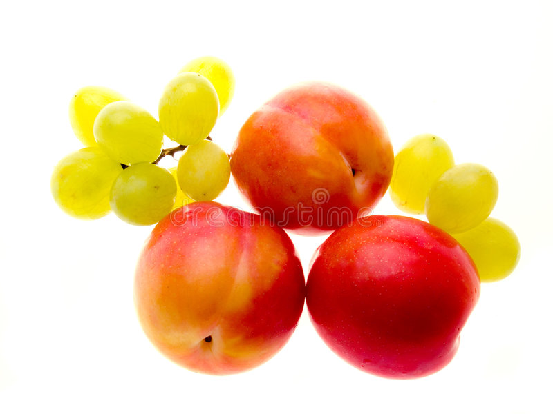 Download Plums And Grapes Stock Photo - Image: 3040600