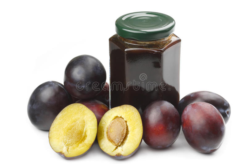 Download Plums and jam stock image. Image of snack, ripe, vegetarian - 10865339