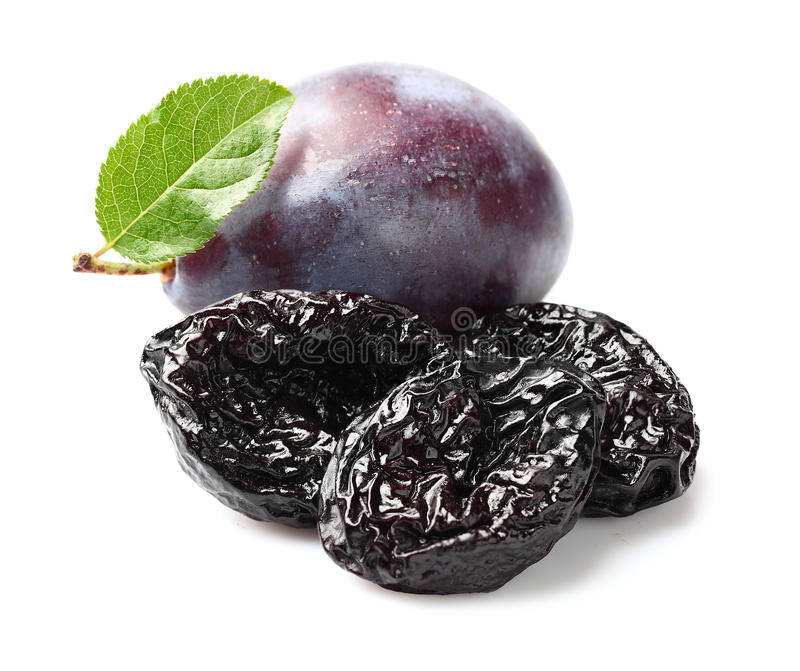 Plums with prunes stock photography