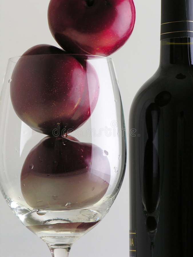 Plums and Wine stock images