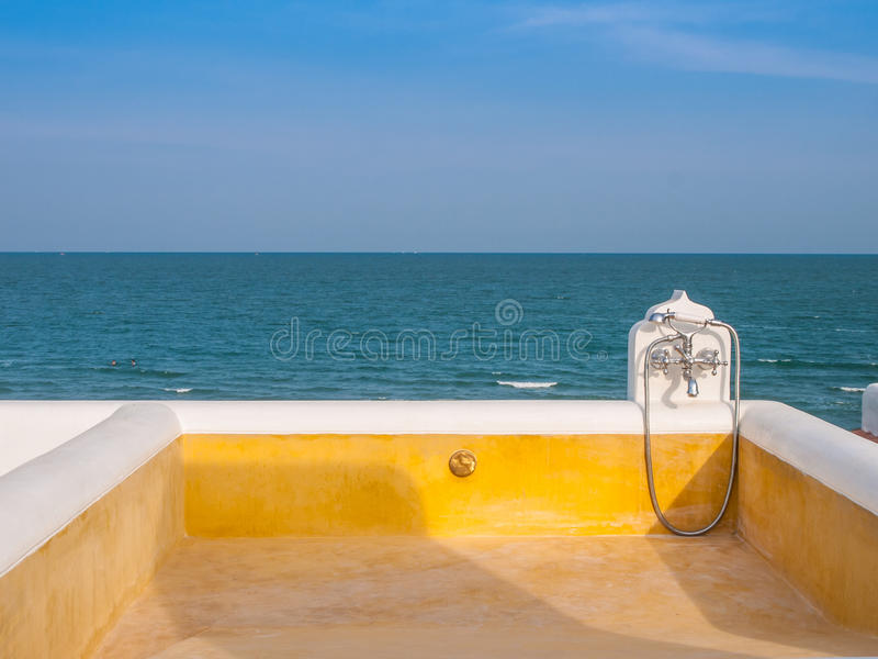 Plunge pool stock images