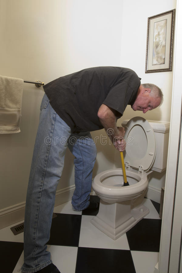 Plunger stock image