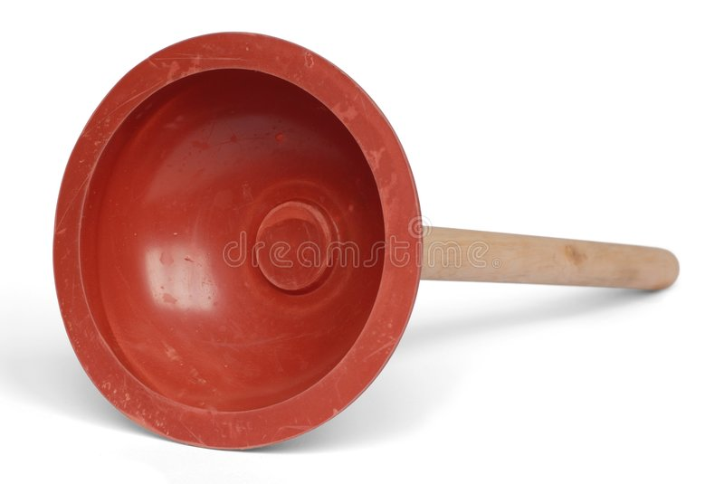 Plunger. Big rubber plunger isolated on white background stock photography