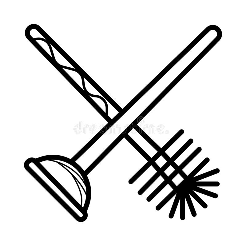 Plunger Vector icon vector illustration