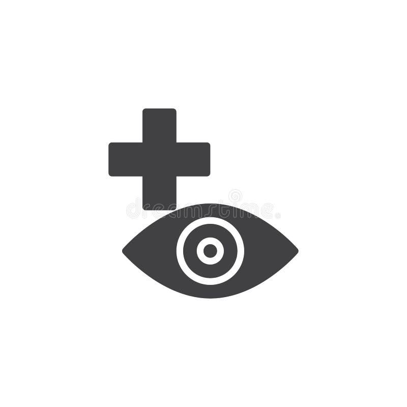 Plus ögonvektorsymbol royaltyfri illustrationer