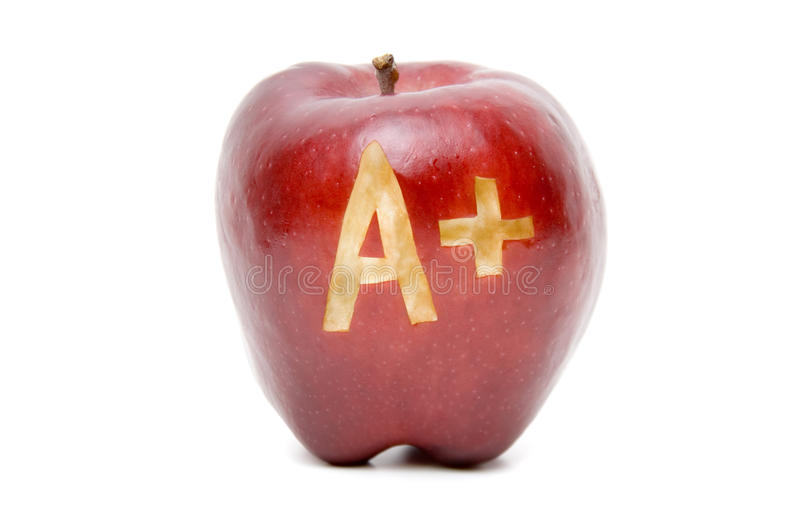 Download A plus apple stock image. Image of apple, sign, excellent - 22508621
