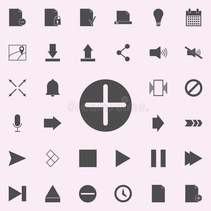 plus in a circle icon. web icons universal set for web and mobile stock illustration