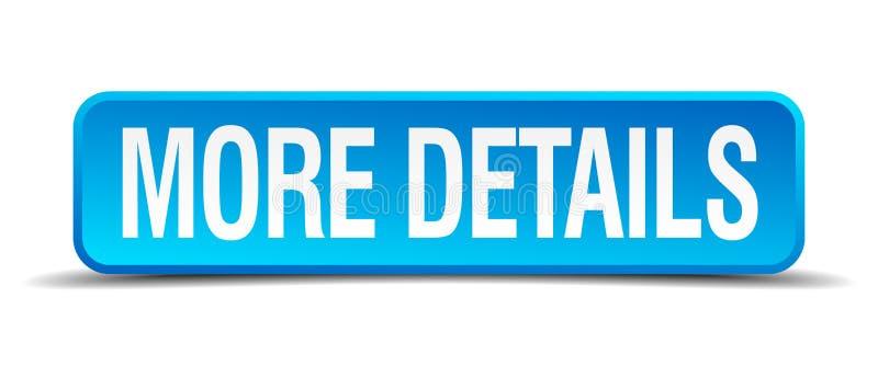 Plus détaille le bouton 3d carré réaliste bleu illustration libre de droits