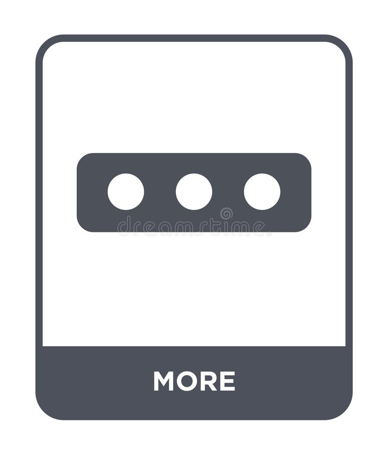 plus d'icône dans le style à la mode de conception plus d'icône d'isolement sur le fond blanc symbole plat simple et moderne de p illustration libre de droits