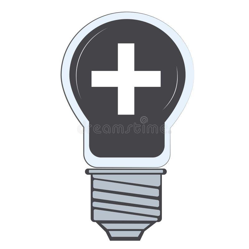Plus dans l'illustrateur de vecteur de lampe illustration stock