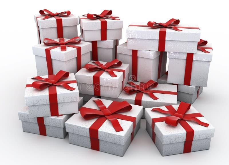 Plus de cadeaux de Noël 3d illustration de vecteur