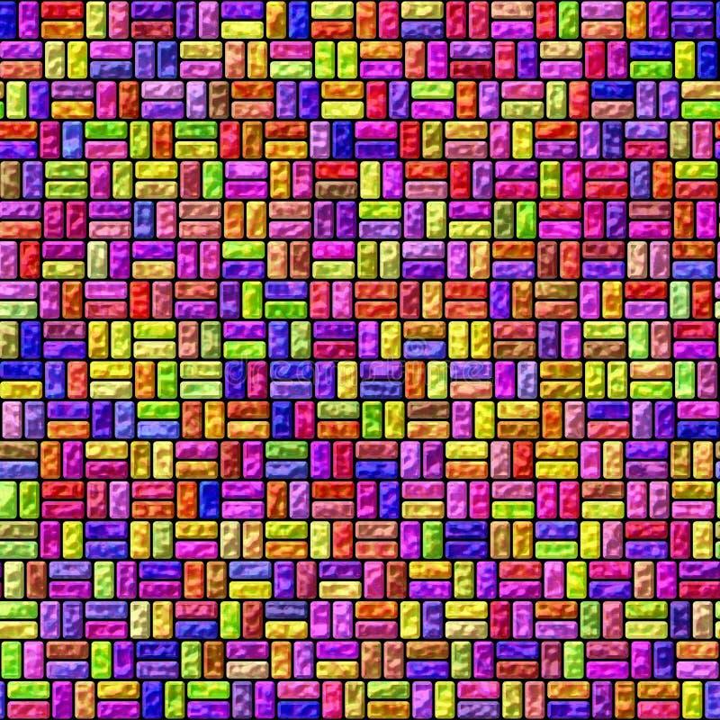 Plus de couleur cube la texture illustration stock