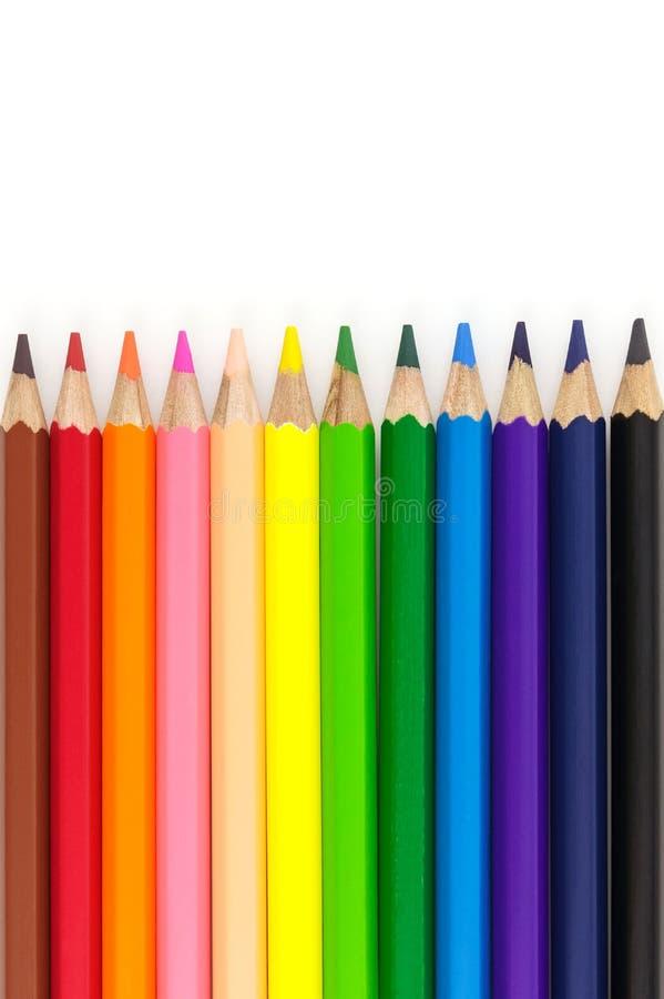 Plus de crayons de couleur image libre de droits