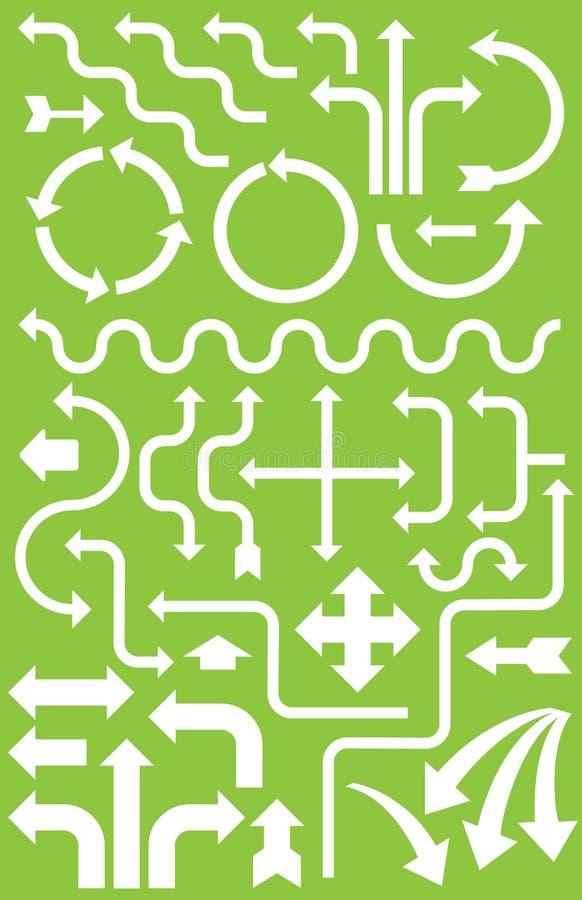 Plus de 30 flèches pour Infographics illustration libre de droits