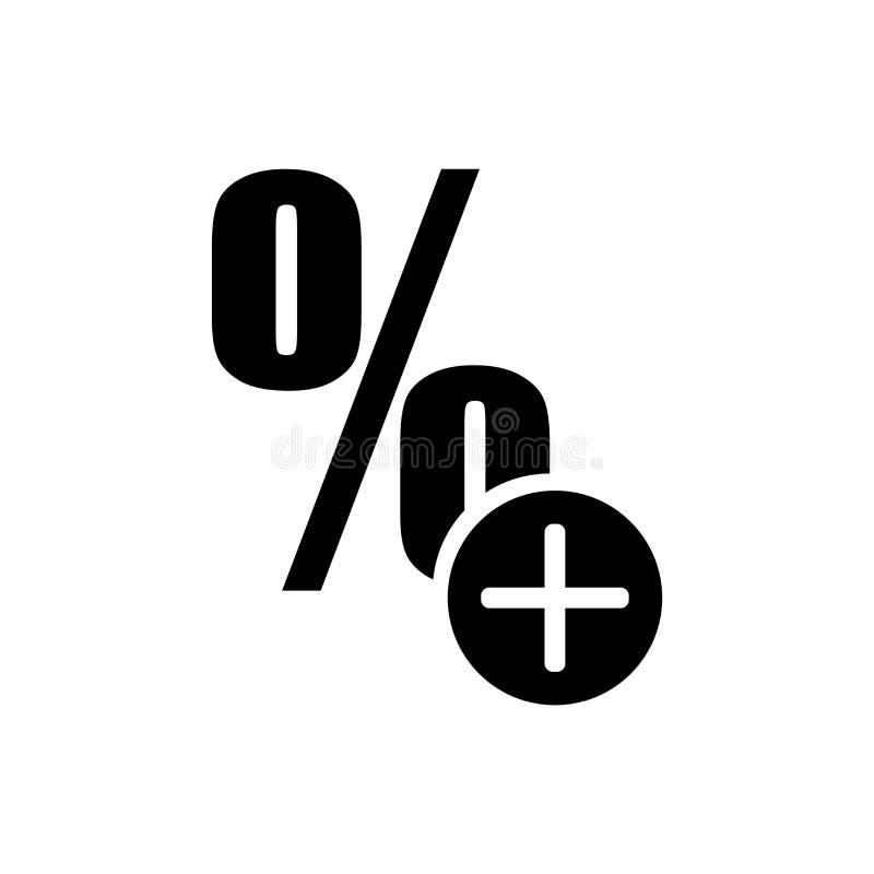 Plus de pourcentage plus le signe de vecteur d'icône de bouton et symbole d'isolement sur le fond blanc, plus de pourcentage plus illustration de vecteur