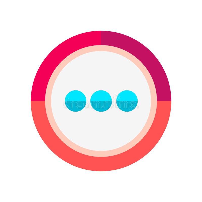 Plus de signe et de symbole de vecteur d'icône d'isolement sur le fond blanc, plus de concept de logo illustration stock