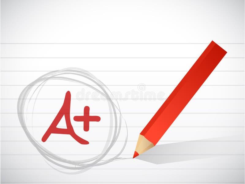 A plus det skriftliga kvalitetsmeddelandet vektor illustrationer