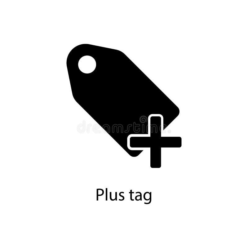 plus etykietki ikona Element minimalistic ikona dla mobilnych pojęcia i sieci apps Znaki i symbol inkasowa ikona dla stron intern royalty ilustracja