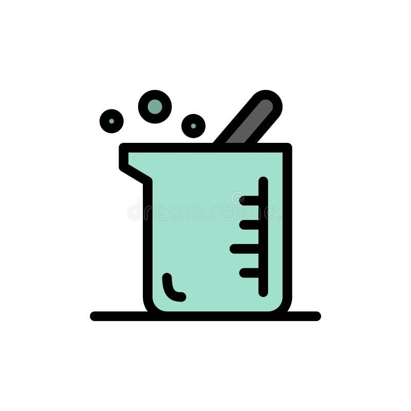 Plus grand, biochimie, biologie, icône plate de couleur de chimie Calibre de bannière d'icône de vecteur illustration stock