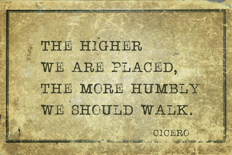 Plus humblement Cicero illustration de vecteur