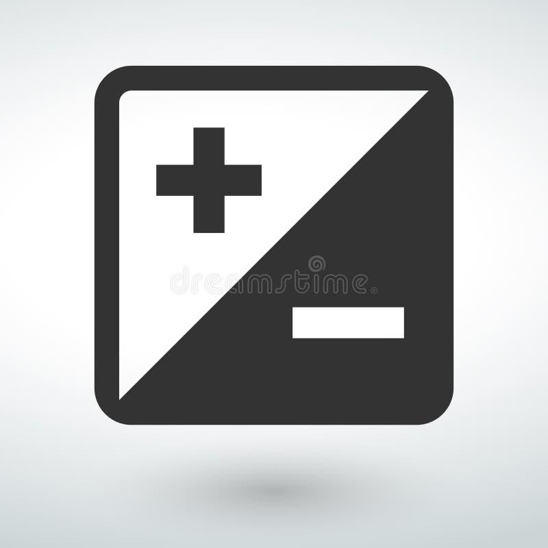 plus icon on a white backround vector illustration