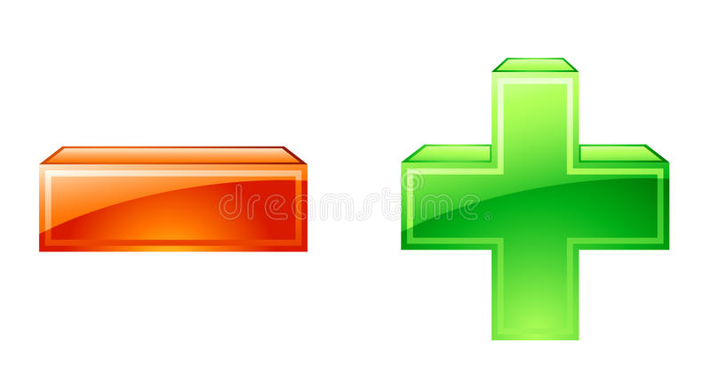 Download Plus minus icons stock vector. Image of vector, nobody - 22763324