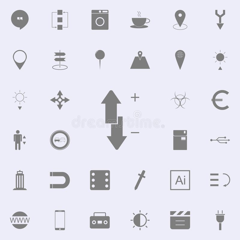 Plus, minus, up and down icon. web icons universal set for web and mobile royalty free illustration
