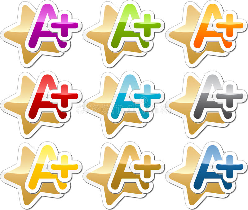 A Plus motivation sticker