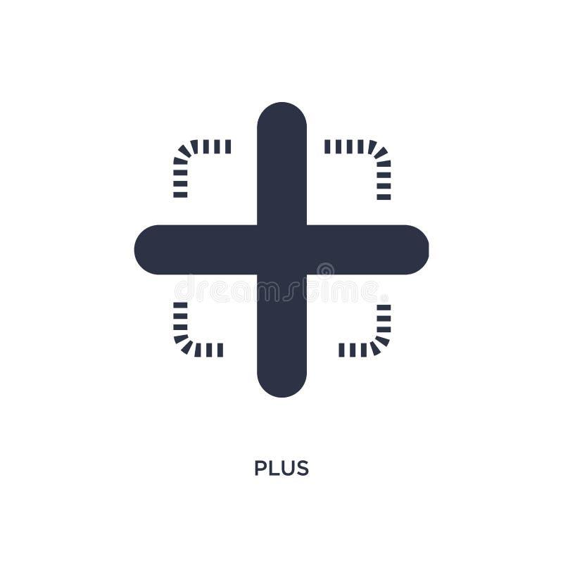 plus pictogram op witte achtergrond Eenvoudige elementenillustratie van richtlijnconcept stock illustratie