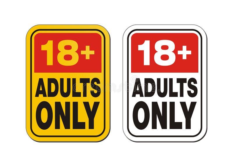 18 plus pour des adultes seulement illustration de vecteur