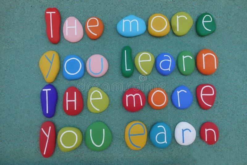 Plus que vous apprenez, plus vous gagnez illustration de vecteur