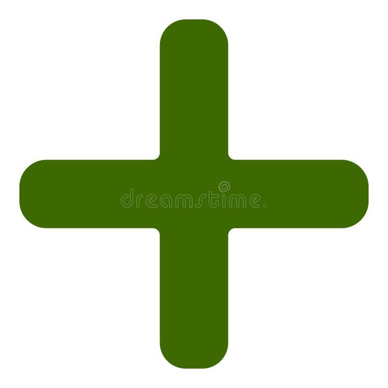 Plus, Querikone, Symbol für Gesundheitswesen, Konzepte der ersten Hilfe lizenzfreie abbildung